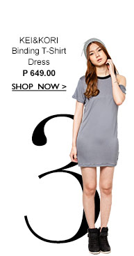 Binding T-Shirt Dress