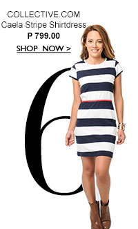 Caela Stripe Shirtdress
