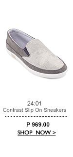 Contrast Slip On Sneakers