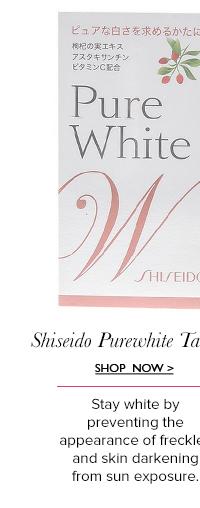 Shiseido Purewhite Tablet