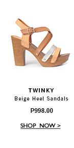 Beige Heel Sandals