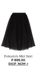 Polkadots Midi Skirt