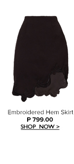 Embroided Hem Skirt