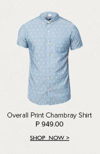 Print Chambray Shirt