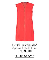Zip Front Shift Dress