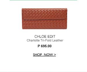 Tri-Fold Leather