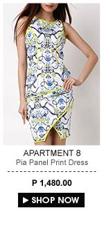 Pia Panel Print Dress