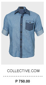 Chambray Shirt with Texture Pocket