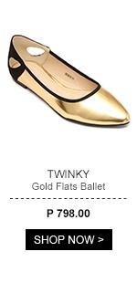 Gold Flats Ballet