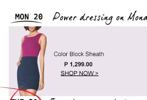 Color block Sheath