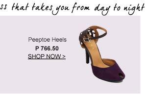 Peeptoe Heel
