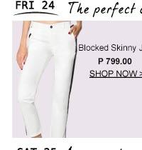 Blocked Skinny Jeans